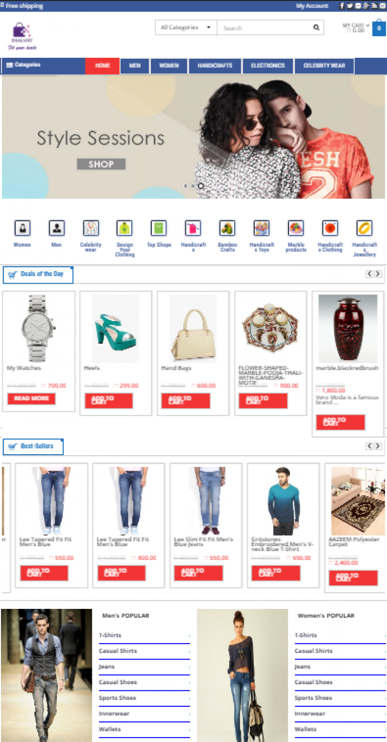 Dealsfit Shopping Site