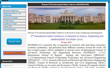 International Online Conference on Research in Science, Engg. and Management